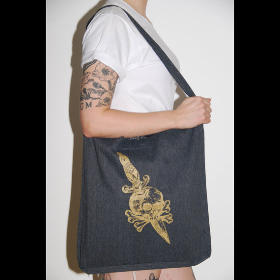 Dagger and Skull Tote bag