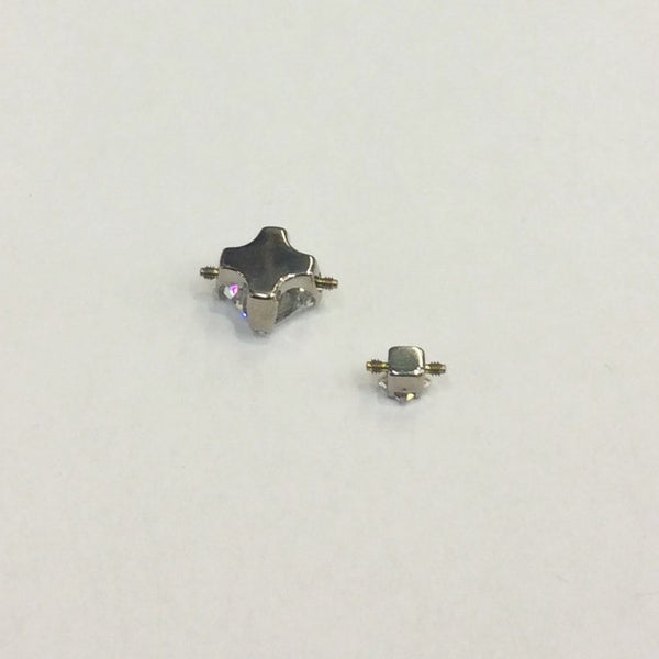 Anatometal Double Threaded Princess Cut CZ