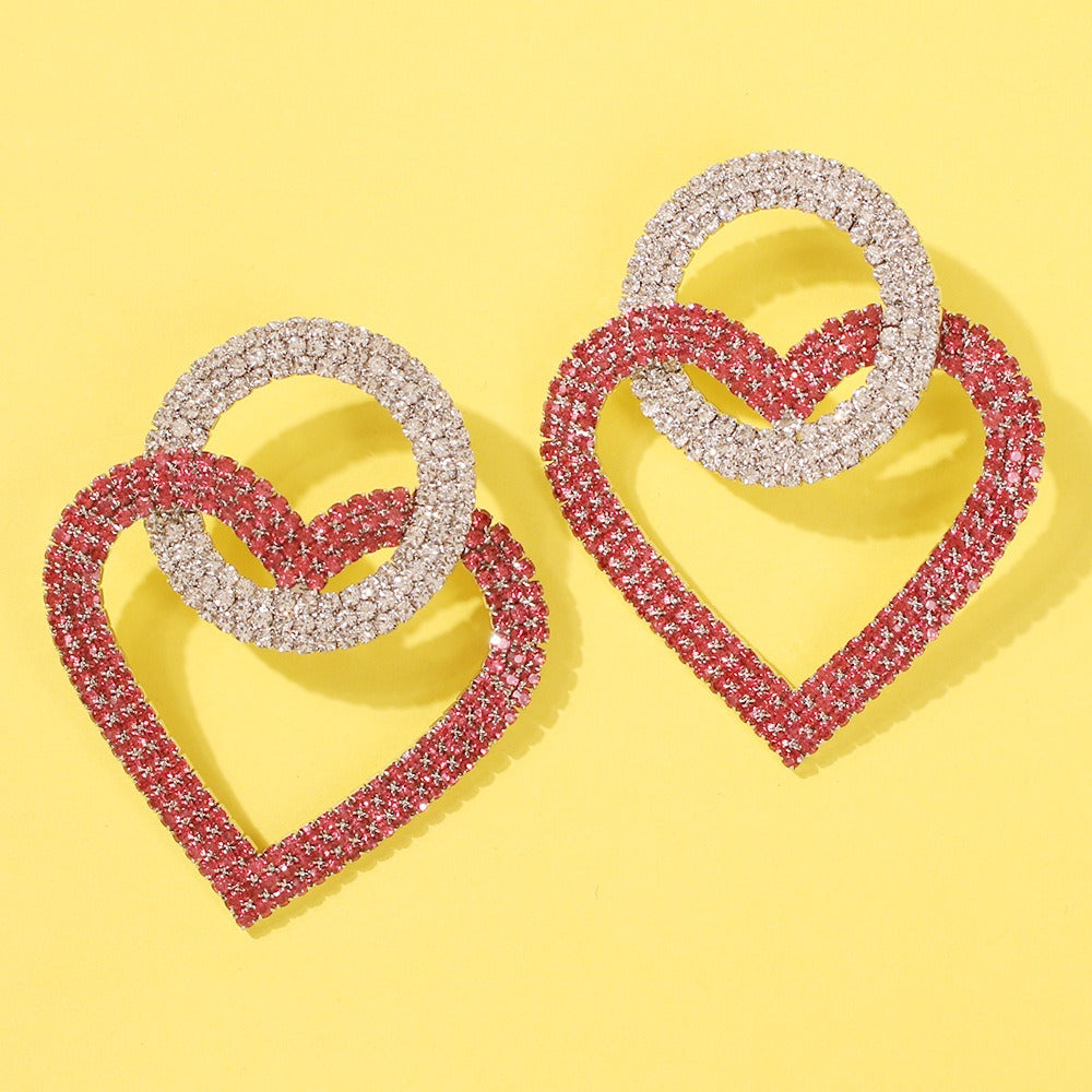 Swarovski Heart Crystal Hoop Earrings | Cleoblvd