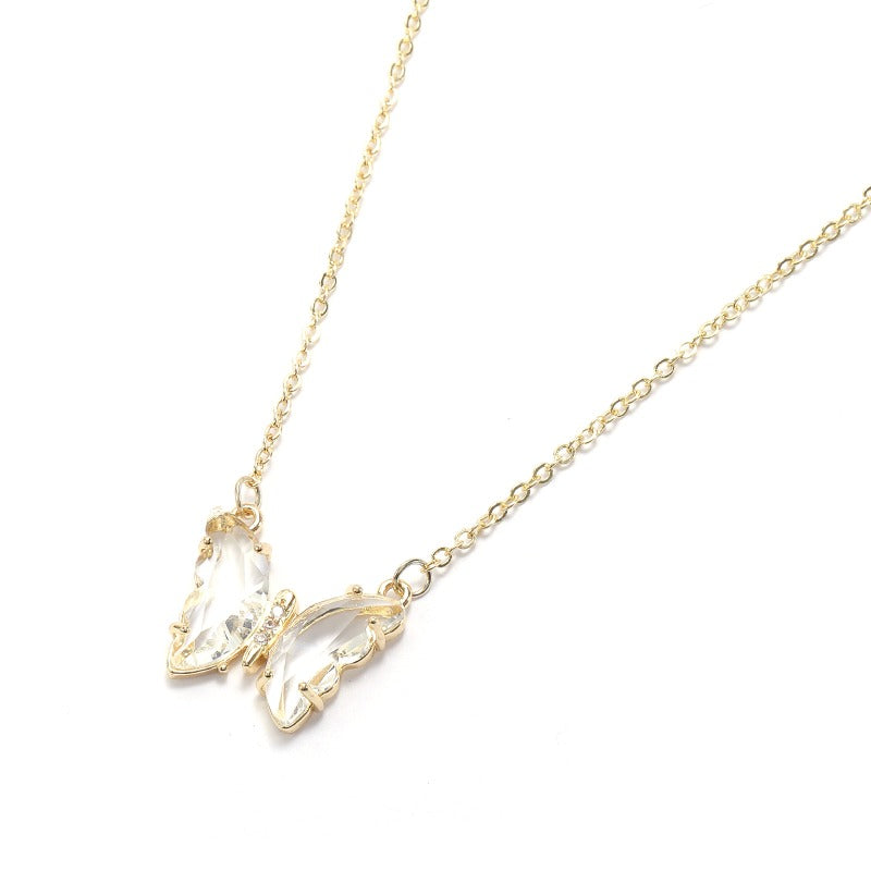 Manifestation Crystal Butterfly Necklace