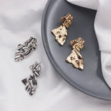 Irregular Drop Geometrical Earrings - CleoBLVD