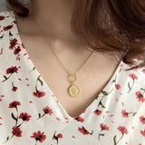 Toggle Clasp Coin Pendant Necklaces - CleoBLVD