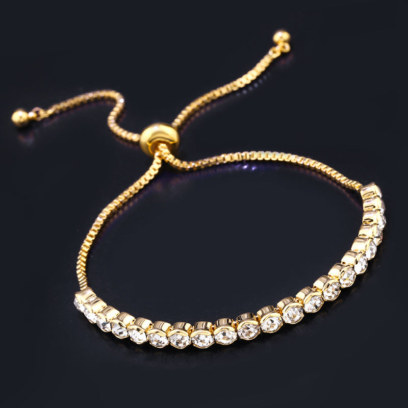 Crystal Exquisite Adjustable Tennis Bracelet - CleoBLVD