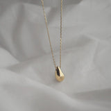 Gold Color Water Drop Pendant Necklaces - CleoBLVD