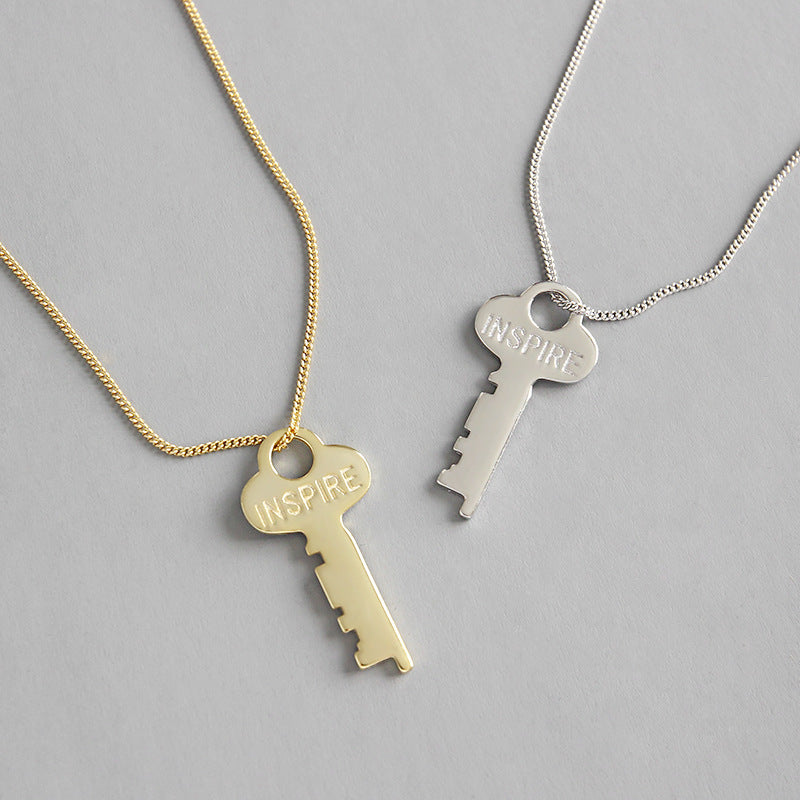 Key Simple 18k Gold Filled Necklace - CleoBLVD