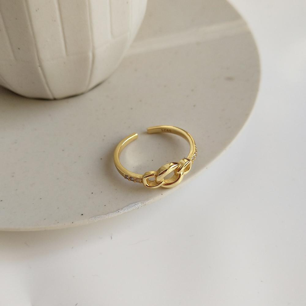 Athena Circle Adjustable Ring - CleoBLVD