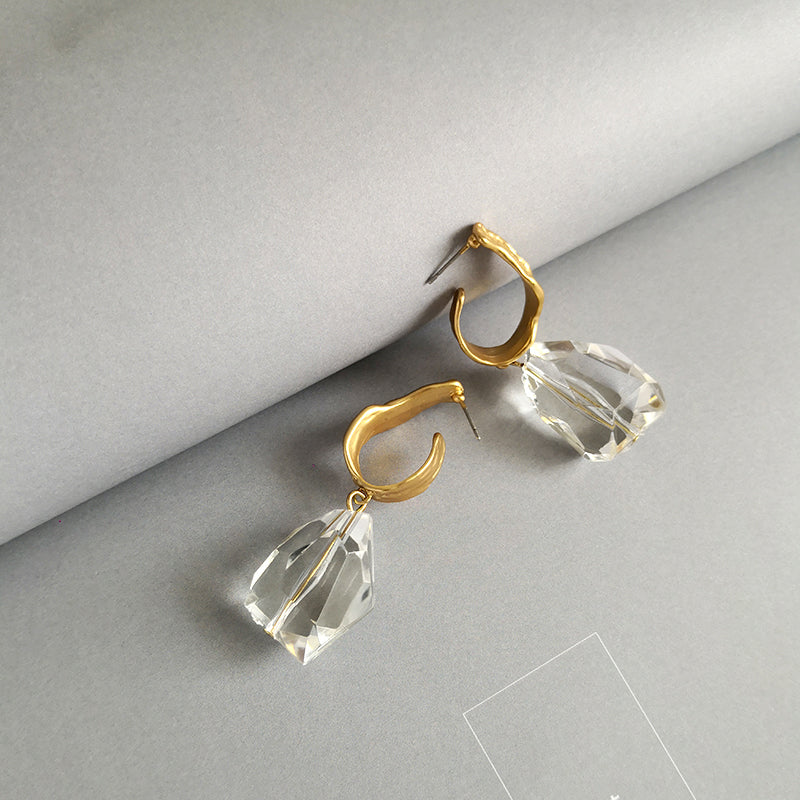 Acrylic Drop Transparent Dangle Earrings - CleoBLVD