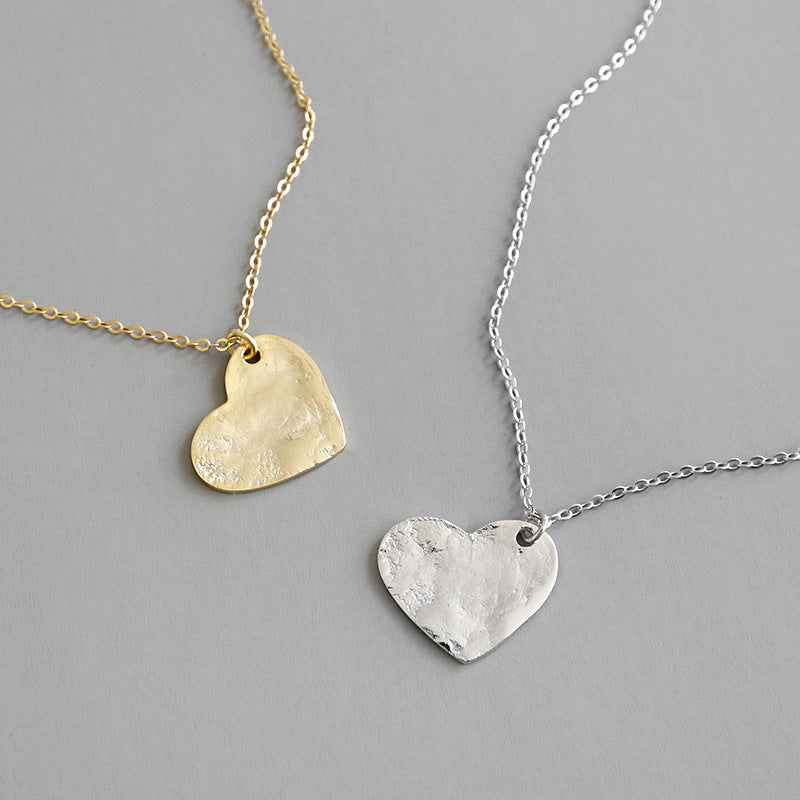 Irregular Heart Pendant Necklace - CleoBLVD