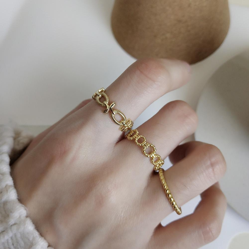 Adjustable Cross Circle Beaded Rings - CleoBLVD