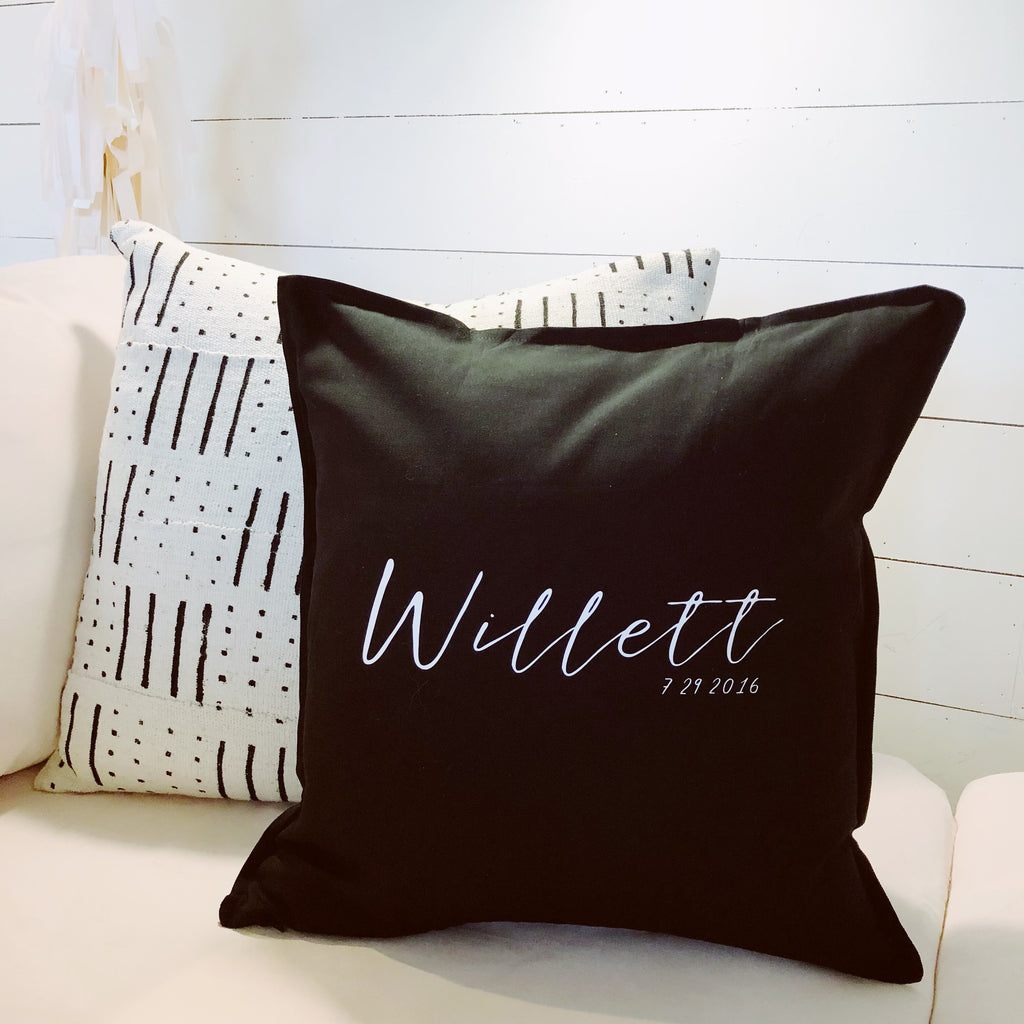 Last Name Pillow Cover