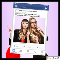 Personalised Facebook Style Photobooth Prop Frame