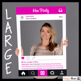 Personalised Hot Pink Instagram Style Hen Party Photobooth Prop Frame