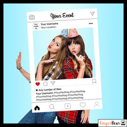 Personalised NEW LAYOUT Instagram Style Photobooth Prop Frame
