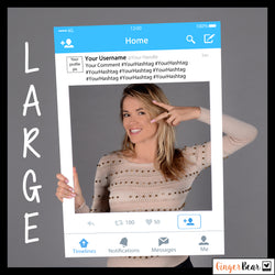 Personalised Twitter Style Photobooth Prop Frame