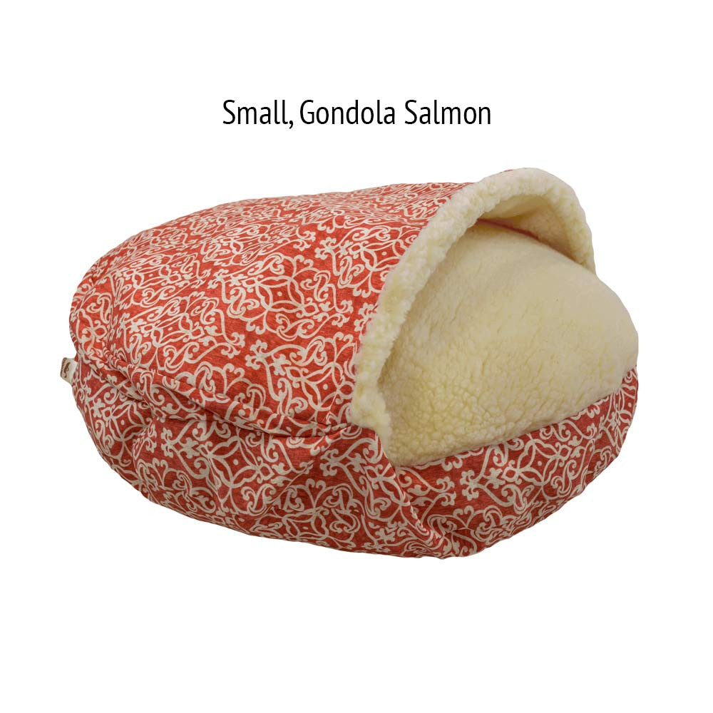 Snoozer Cozy Cave Dog Bed - Gondola Salmon
