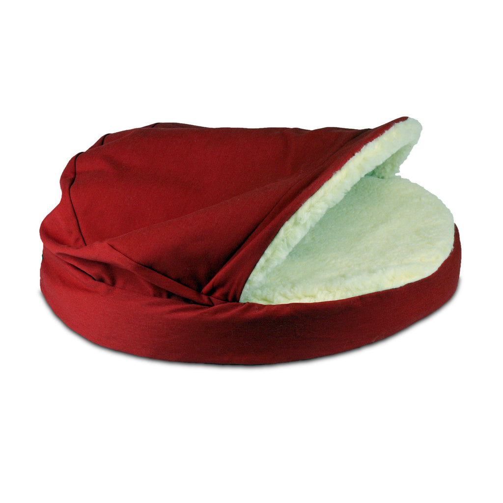 Snoozer Orthopedic Cozy Cave - Red