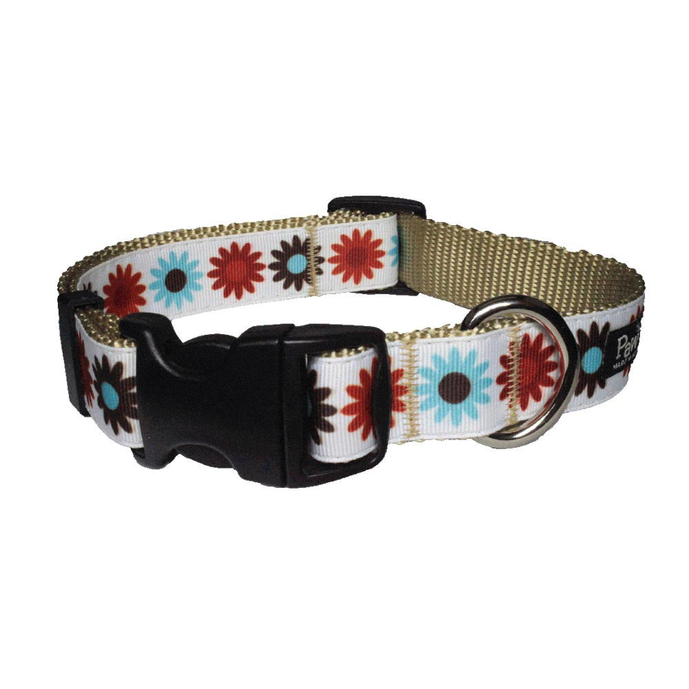 Paw Paws Dog Collar - Hula Flowers