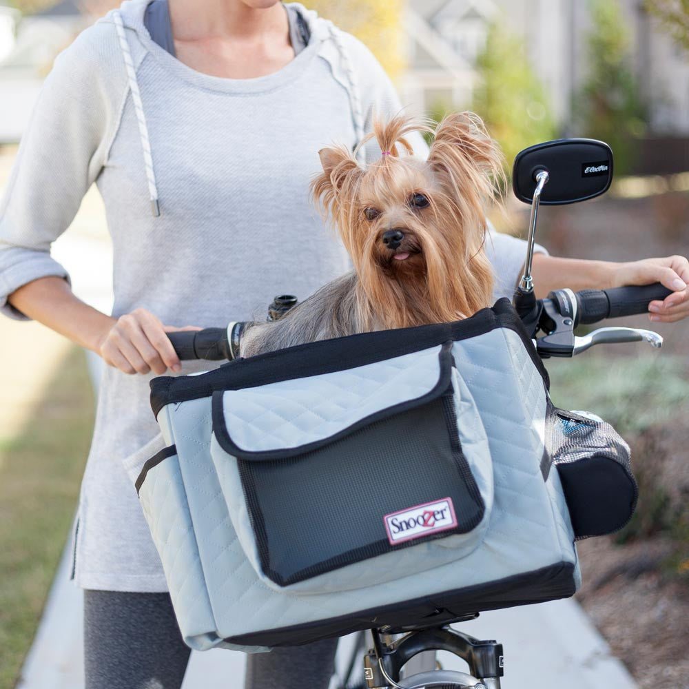 Snoozer Dog Bicycle Basket - Grey