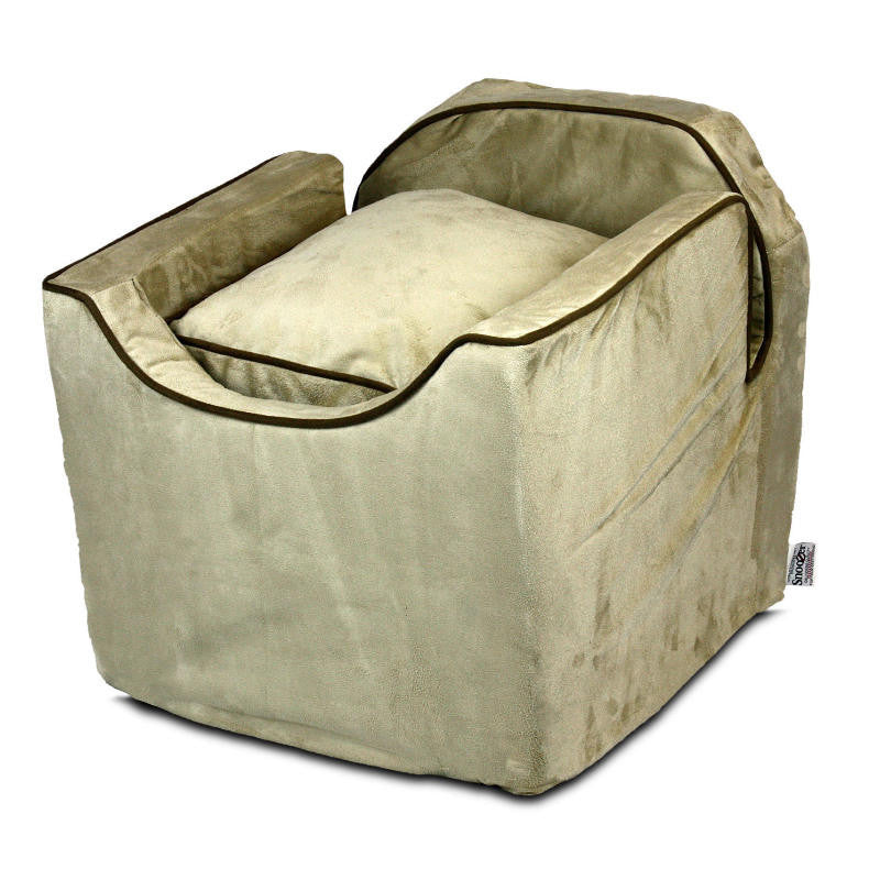 Snoozer Luxury Lookout I Dog Car Seat - Buckskin with Java
