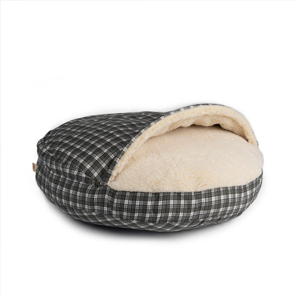 Snoozer Orthopaedic Cozy Cave Dog Bed - Gray Plaid