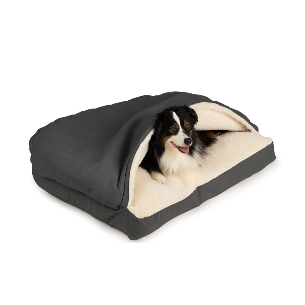 Snoozer Luxury Cozy Cave Rectangle Dog Bed - Anthracite