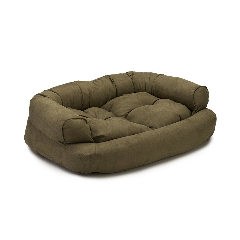 Snoozer Luxury Overstuffed Dog Sofa - Olive