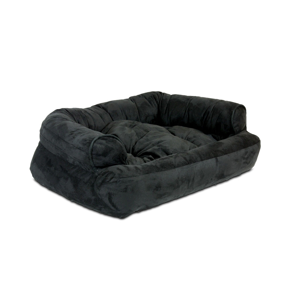 Snoozer Overstuffed Luxury Pet Sofa - Black