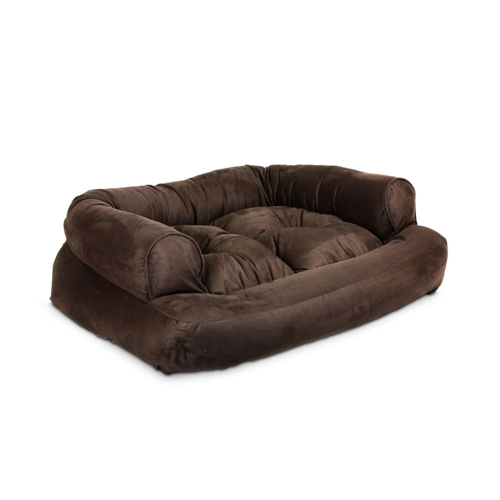 Snoozer Overstuffed Luxury Pet Sofa - Hot Fudge