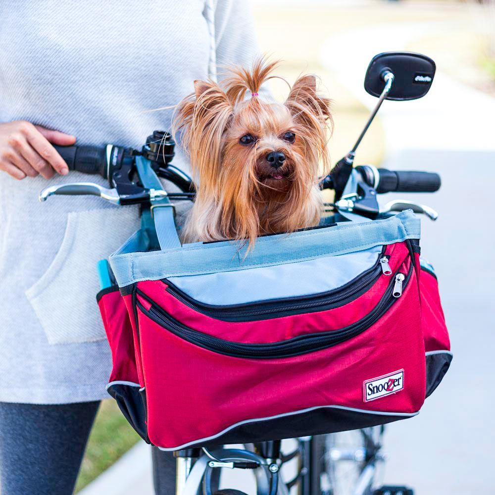 Snoozer Sporty Dog Bicycle Basket - Red/Black