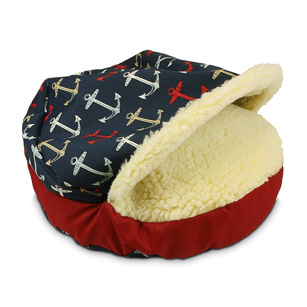 Snoozer Cozy Cave Dog Bed - Anchors