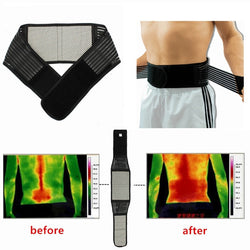 Tourmaline Magnetic Therapy Lower Back Waist Support Belt Self Heating Backache Pain Relief free Shipping