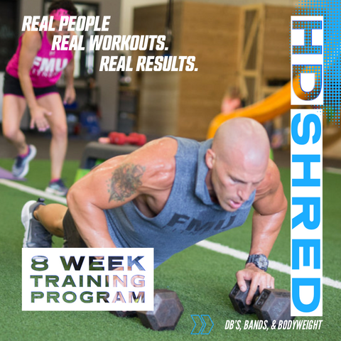 HD SHRED 8 WEEK TRAINING PROGRAM (29 Workouts) Instant Digital Access