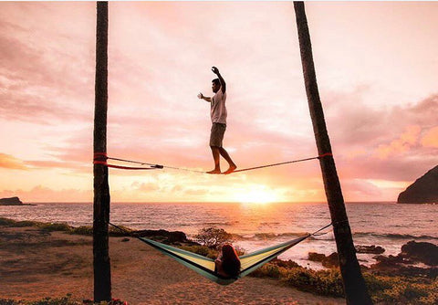 Camping Hammock at the Beach