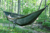 2 Person Camping Hammock Dark Green/Olive - Peak Camping Hammock