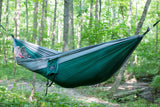 Single Camping Hammock Green/Grey - Peak Camping Hammock