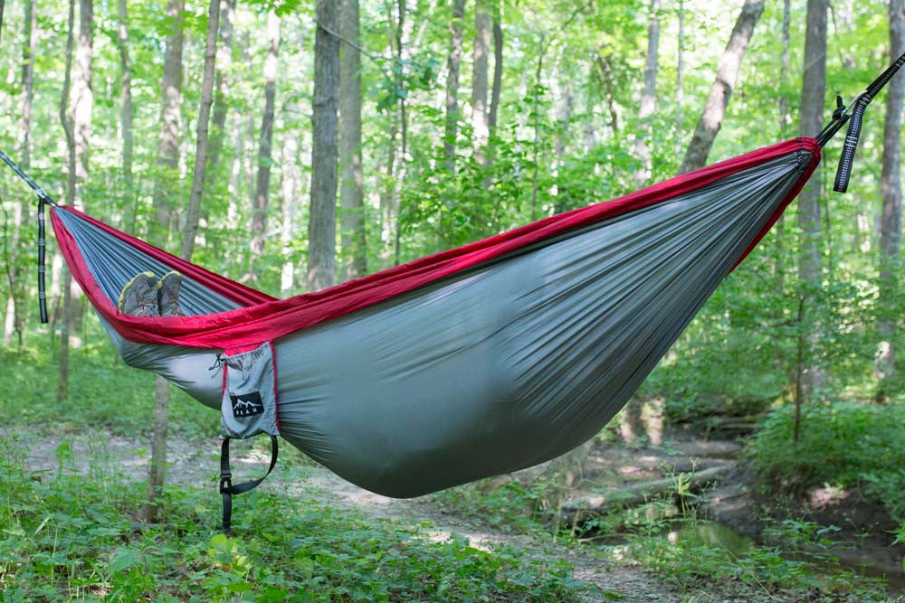 Astonishing 2 Person Camping Hammock Grey Maroon Download Free Architecture Designs Itiscsunscenecom