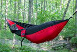 Single Camping Hammock Red/Black - Peak Camping Hammock