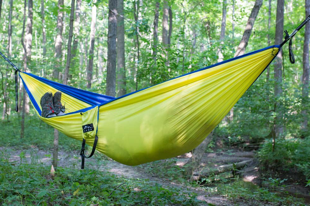 2 person camping hammock yellow blue   peak camping hammock 2 person camping hammock yellow blue  u2013 peak camping hammock  rh   peakcampinghammock