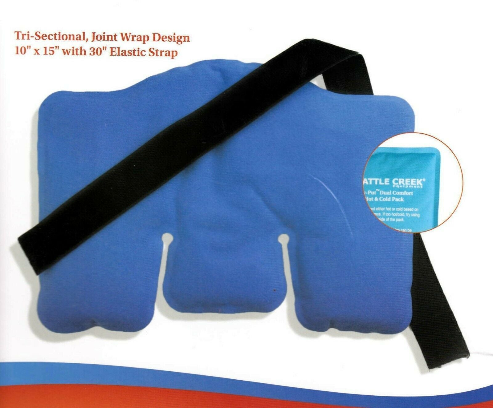 Battle Creek Heat Therapy Battle Creek Stay Put Dual Comfort Hot & Cold Therapy Wraps