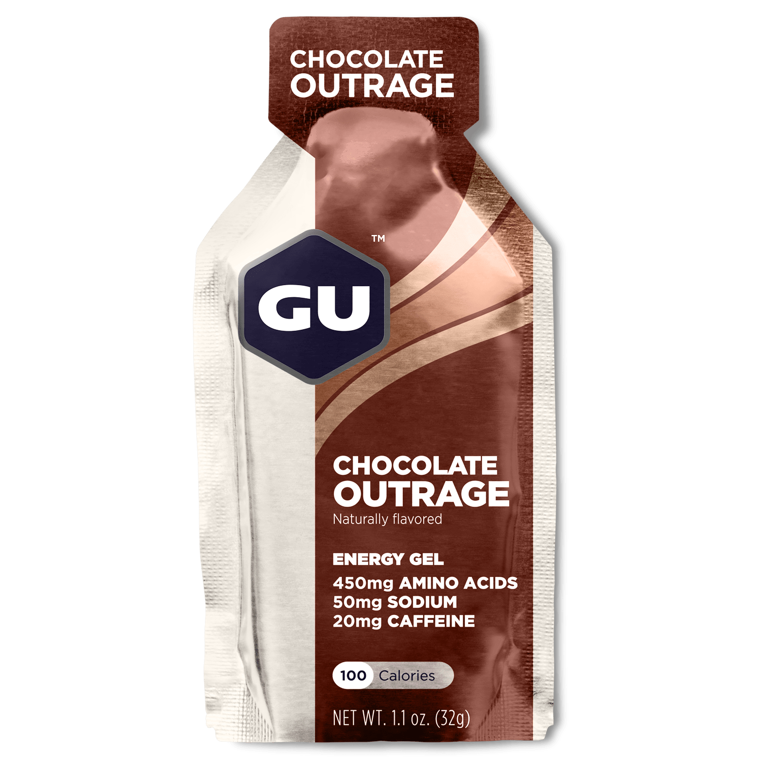 GU Sports Nutrition Chocolate Outrage / 24 Count Box GU Original Sports Nutrition Energy Gel - Various Flavors