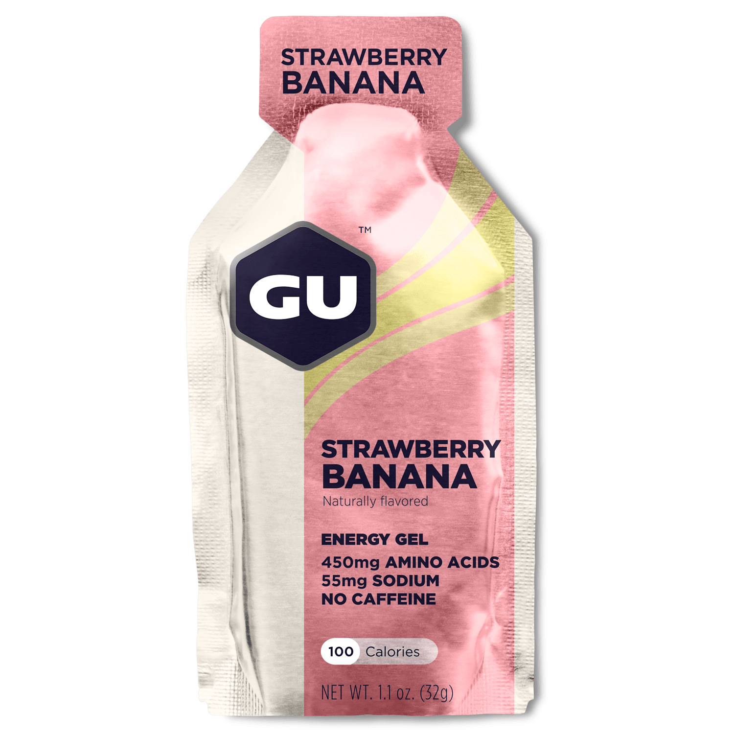 GU Sports Nutrition Strawberry Banana / 24 Count Box GU Original Sports Nutrition Energy Gel - Various Flavors