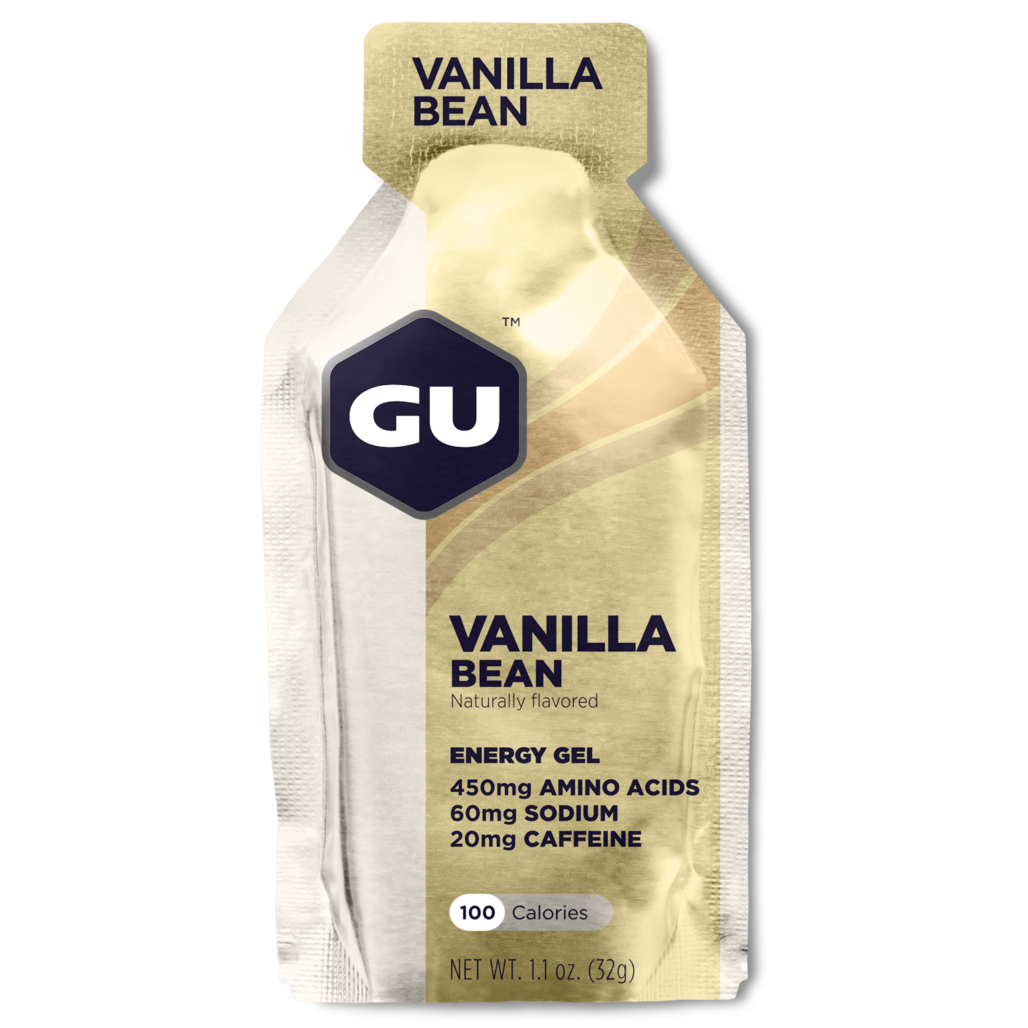 GU Sports Nutrition Vanilla Bean / 24 Count Box GU Original Sports Nutrition Energy Gel - Various Flavors