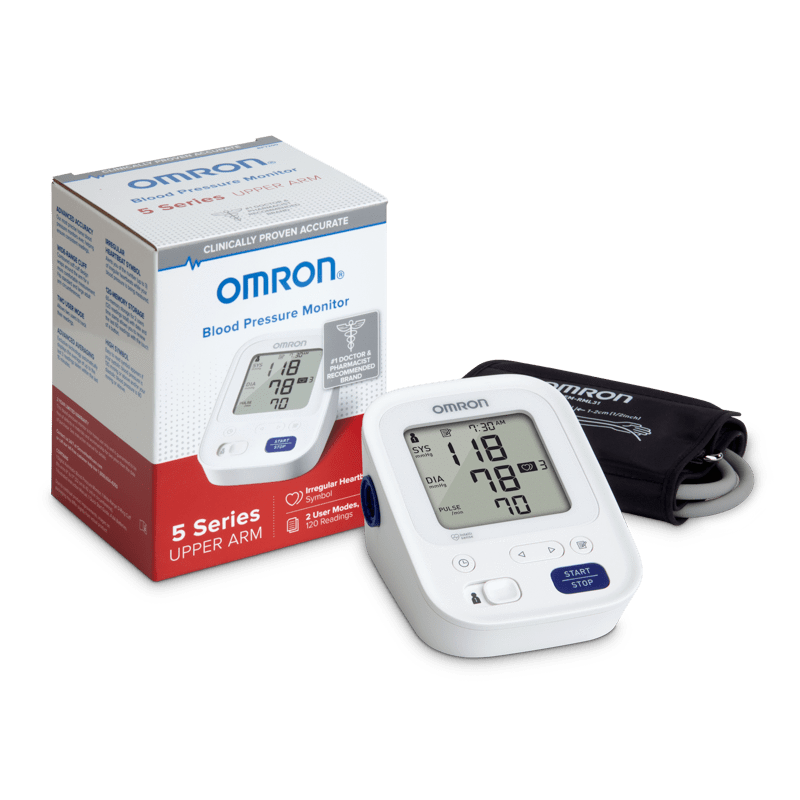 Omron Automatic Blood Pressure Omron 5 Series Upper Arm Blood Pressure Monitor BP7200