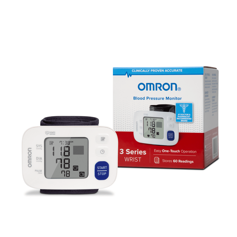 Omron Automatic Blood Pressure Omron BP6100 3 Series Wireless Wrist Blood Pressure Monitor