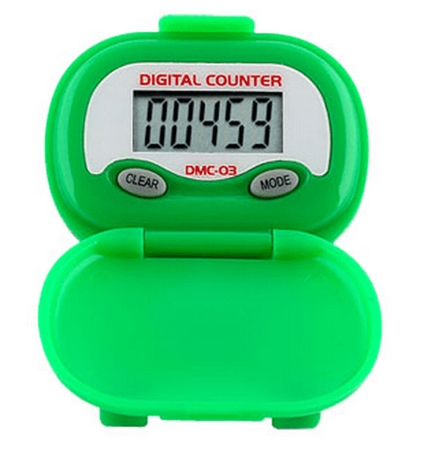 Shinwoo Pedometers Green DMC03 Multi-Function Pedometer