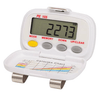 Shinwoo Pedometers White PE-105 Tri-Axis Multi-Function Pocket Pedometer