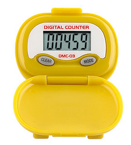 Shinwoo Pedometers Yellow DMC03 Multi-Function Pedometer