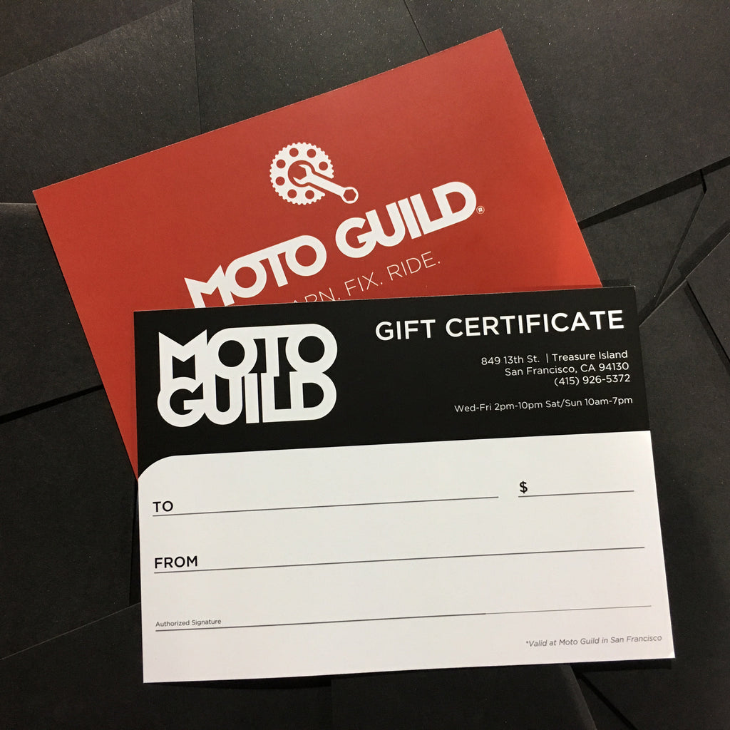 Moto Guild Gift Certificate - Motorcycle