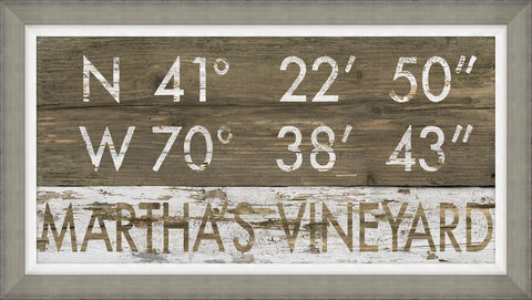 Martha's Vineyard Coordinates