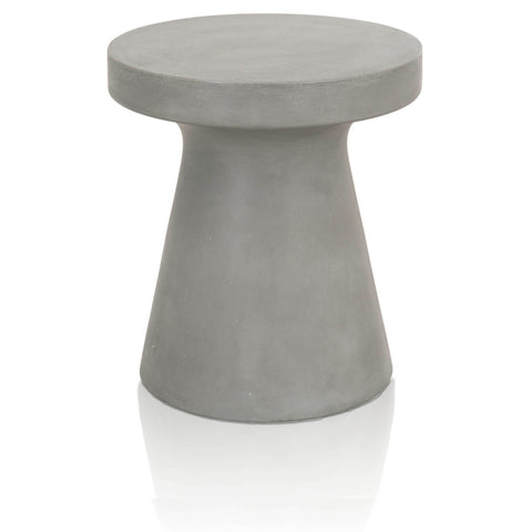 Deep Bottom Concrete Accent Table